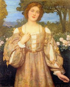 """Monna Giovanna \\ Edward Robert Hughes (1851–1914) - English painter.\\ other pictures on the board """" artists """""""