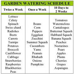my family prepared: Garden Watering Schedule Like this. my family prepared: Garden Watering Schedule Garden Types, Water Garden, Lawn And Garden, Herbs Garden, Planting A Garden, How To Garden, Vegetables Garden, Herb Garden Design, Bamboo Garden