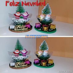 Manualidades para navidad adornos hechos a mano con materiales reciclados Diy, Snow Globes, Home Decor, Glass Containers, Recycled Materials, Furniture, Crafts With Bottles, Crafts To Make, Creative Crafts