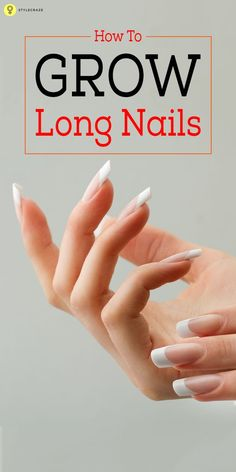 How To Grow Nails Faster And Stronger: Nothing can be more eye-catchy than them. When you see someone walk past you with long and nicely painted nails. Keep reading to find out how you obtain those gorgeous looking long nails faster! Grow Long Nails, Grow Nails Faster, How To Grow Nails, How To Make, How To Paint Nails, Nail Growth Tips, Nail Care Tips, Nail Tips, Do It Yourself Nails