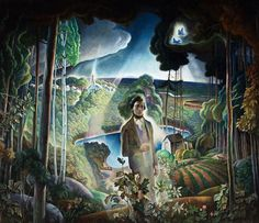 'Walden Pond Revisited', 1932-33, ( 'Thoreau at Walden Pond' ), oil on canvas, Brandywine River Museum
