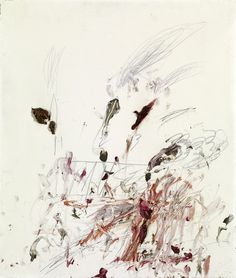 """Muses"", 1963 by Cy Twombly. This is typical of Twombly's gestural work. Expressive and free with several media on one surface. A beautiful early work by a master of Contemporary Art. More on famous art and artists in ArtEx: http://www.galleryintell.com/artex/"
