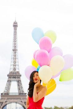 Gary Pepper. Paris Eiffel Tower and ballons