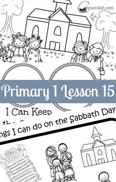 Love these lesson helps and handouts for LDS Primary 1 Lesson 15: The Sabbath Is a Day of Worship