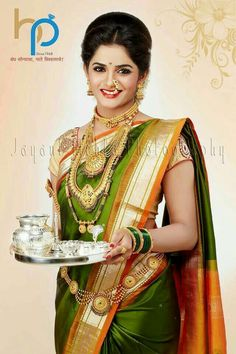 This app includes a collection of best handpicked Indian Bridal Dresses. Marathi Saree, Marathi Bride, Marathi Nath, Kashta Saree, Saree Dress, Saree Blouse, Nauvari Saree, Saree Look, Indian Beauty Saree