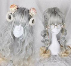 trendy hair long curly styles beauty - New Site Pelo Lolita, Lolita Hair, Kawaii Hairstyles, Trendy Hairstyles, Wig Hairstyles, Kawaii Wigs, Anime Wigs, Hair Reference, Cosplay Wigs