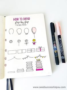 Plan With Me: My August 2018 Monthly Set Up Step by step birthday doodles (bullet journal). Plan With Me: My August 2018 Monthly Set Up Step by step birthday doodles (bullet journal). Birthday Bullet Journal, Bullet Journal Set Up, Bullet Journal Ideas Pages, Bullet Journal Inspiration, Journal Pages, Birthday Doodle, 50 Birthday, Birthday Ideas, Bellet Journal