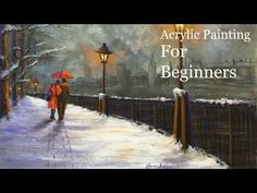 Acrylic Painting Tutorial for Beginners Lamplight Love Speed Painting & Voice over - Paint with Maz - YouTube