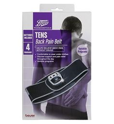 Boots Pharmaceuticals Boots TENS Back Pain Belt 10165888 156 Advantage card points. Boots TENS Back Pain Belt helps relieve back pain, without drugs. The belt provides discreet support and pain relief throughout the day. It is comfortable to wear under clot http://www.MightGet.com/april-2017-1/boots-pharmaceuticals-boots-tens-back-pain-belt-10165888.asp