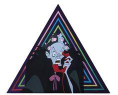 Chen Zhuo, Cruella De Vil, Oil on Canvas, equilateral triangle 60cm, 2013, Gallery Yang