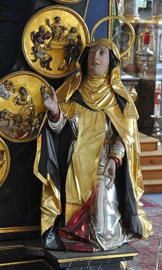 St. Catherine of Siena | http://www.saintnook.com/saints/catherineofsiena - File:Owingen Pfarrkirche Rosenkranzaltar detail 6.jpg