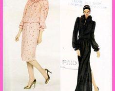 Vintage 1980's OSCAR de la RENTA Evening Dress / Gown - Vogue 2783 American Designer Rare Sewing Pattern - Women's Size 12 UNcut