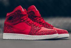 "purchase cheap 543b2 f0ae0 2016 Air Jordan 1 High ""Red Elephant Print"" Gym Red Black-White"