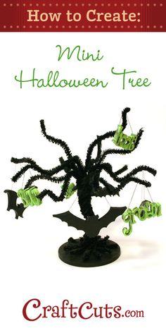 How to Create a Mini Halloween Tree | CraftCuts.com