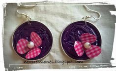 TUTORIAL-----: PENDIENTES NESPRESSO CON FLORES 3D / NESPRESSO EARRINGS WITH 3D FLOWERS