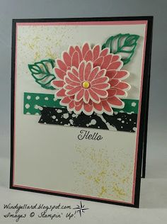 Windy's Wonderful Creations: FMS275 Hello Special Reason Flowers!, Stampin' Up!, Special Reason, Stylish Stems dies, Flourishing Phrases, Touches of Texture, Playful Palette DSP