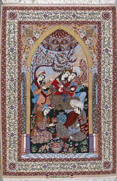 """Esfahan Persian Rug, Buy Handmade Esfahan Persian Rug 5' 1"""" x 7' 5"""", Authentic Persian Rug $9,520.00"""