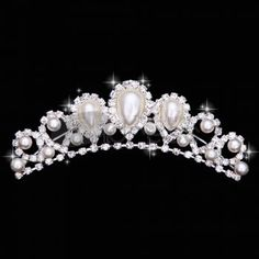 Wedding Tiaras / The stylish white gems bride Crown