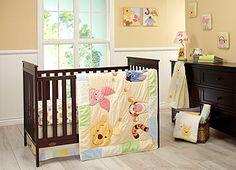 "Disney Baby - Peeking Pooh 7 Piece Crib Set - Disney Baby Classic Pooh - Babies ""R"" Us"