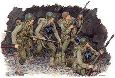 U.S.ARMY - 1944 Normandía US Rangers a Pointe du Hoc - Ron Volstad - Dragon