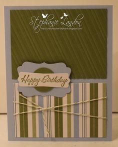 A great masculine birthday card :-)
