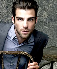 Zachary Quinto I do not know if it is the fact that he is gay or I love his doe eyes or the fact that he is just a gorgeous man. But I have a crush on this American Horror story actor <3