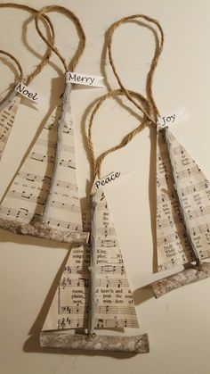 My version of driftwood sailboats with glittered Christmas sheet music! Sail on to Christmas! (Diy Ornaments Beach)