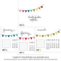 Twenty Fourteen Calendar {CU}