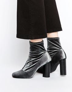 I need these in my life!  Senso Sonia II Velvet Stretch Heeled Ankle Boots