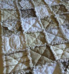 Plaid, jeté de lit, canapé en Rag Quilt : Textiles et tapis
