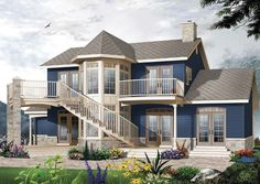 House Plan 65488   Country   Victorian    Plan with 1953 Sq. Ft., 4 Bedrooms, 3 Bathrooms, 2 Car Garage