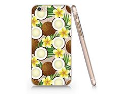Coconut Pattern Summer Slim Iphone 6 6s Case, Clear Iphon...