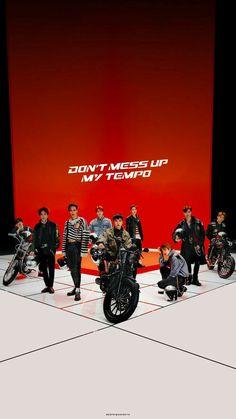 EXO Don't mess up my tempo Wallpaper. Luhan, K Pop, Exo Music, Exo Songs, Exo Album, Exo Lockscreen, Xiuchen, Kim Minseok, Exo Korean