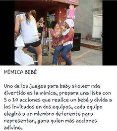 Juegos baby shower. Mímica bebe