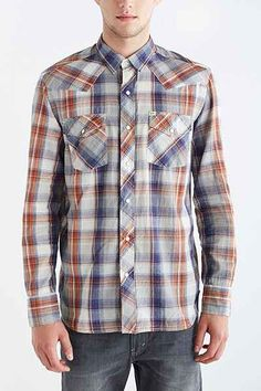 Salt Valley Arlo Plaid Western Button-Down Shirt - Urban Outfitters
