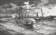 Fishing boats and fishermen, 1899