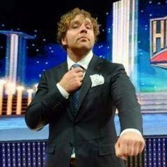 Jonathan (Dean Ambrose) at the 2014 WWE HOF. Found on Instagram, @lady_ambrose