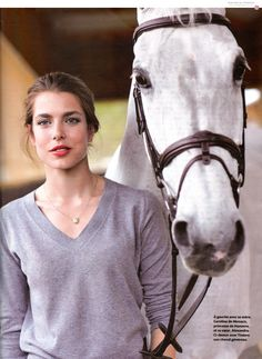 Charlotte Casiraghi - thick eyebrows & a horse.