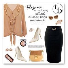 """""""Elegance"""" by sabinakopic ❤ liked on Polyvore featuring Chloé, Coach, Bloomingdale's, Michael Kors, MAC Cosmetics, Hourglass Cosmetics, LoveIt, loveluxury and LUXURYDIVAS"""