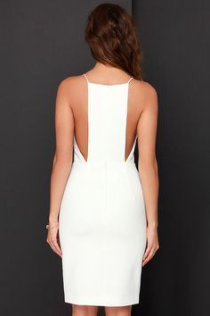 It's hard to keep still with all the excitement surrounding the Keepsake Restless Heart Ivory Midi Dress! Princess seams flow through the fitted waistline with slit. Ivory Dresses, Sexy Dresses, Beautiful Dresses, Casual Dresses, Fashion Dresses, Summer Dresses, Fashion 2018, Fashion Fall, Looks Chic