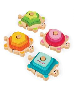 Another great find on #zulily! Wooden Stacking Turtle Set by Janod #zulilyfinds