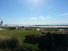 View of the beach at the Hotel Del Coronado