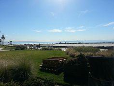 View of the beach at the Hotel Del Coronado