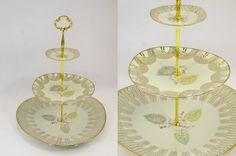 kuchenplatte vintage : Vintage Tortenst?nder, Etagere, Cupcake Teller, Kuchenplatte ...