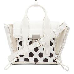 3.1 phillip lim Mini Pashli Satchel (11.150.220 VND) ❤ liked on Polyvore featuring bags, handbags, white satchel, man bag, satchel purse, white purse and mini handbags