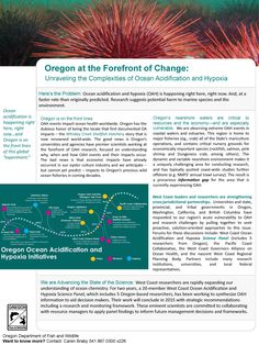 Oregon at the forefront of change : unraveling the complexities of ocean acidification and hypoxia, by the Oregon Department of Fish and Wildlife