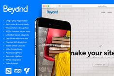 Ad: Beyond All In One WordPress Theme by Visualmodo on Beyond WordPress theme is a clean, modern, minimal, royal, multi-purpose and one-page premium WordPress template all-in-one. It has a wide Template Wordpress, Tema Wordpress, Wordpress Theme, Cv Web, Best Slider, Mobile Logo, Template Site, Design Templates, Card Templates