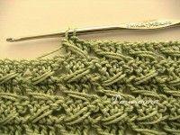 Рельефный узор крючком / Free crochet relieve stitch pattern