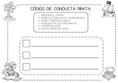 CÓDIGO DE CONDUCTA PIRATA Diy For Kids, Pirates, Preschool, Classroom, Teaching, Education, Blog, Carnival, Texts
