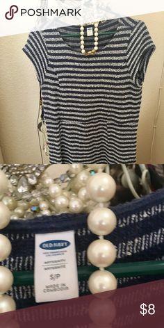 1a5eecc0a3e Old Navy Blue & White Knit stripe Maternity Dress Blue and White Maternity  Dress from Old